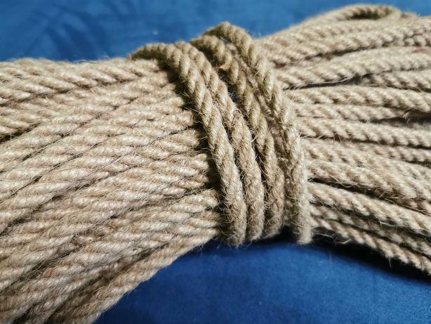 Lina jutowa sznur sznurek juta TANIO 10mm 20 metrów