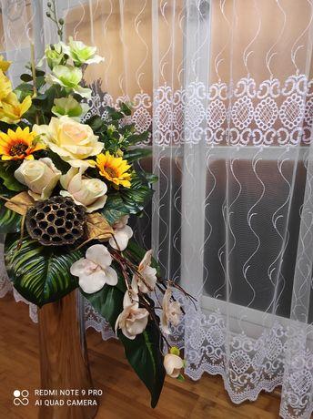 Firany DIAREN firana żakardowa haftowana tiul