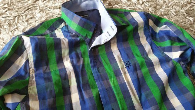 Koszula męska MIRZAD rozmiar M w kratkę taliowana