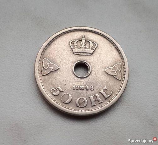 140) NORWEGIA - 50 Ore - 1948 r.