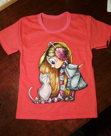 Роспись детских и взрослых футболок