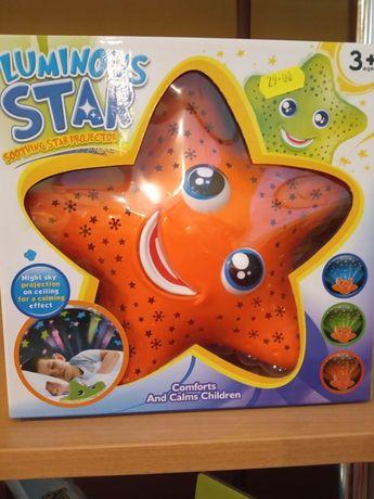 Nowy Projektor gwiazd lampka i grającą zabawka 3 w 1