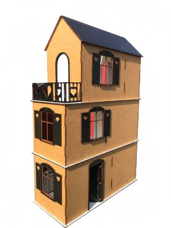 domki DLA lalek LOL PIĘKNE drewniane sklejka decoupage eko GernatLaser