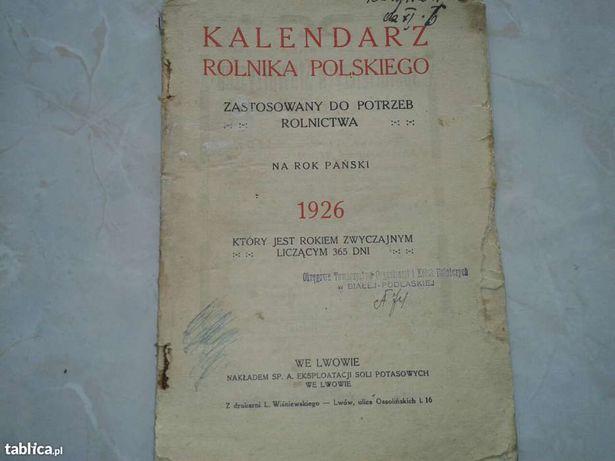 1926 Kalendarz Rolnika Polskiego