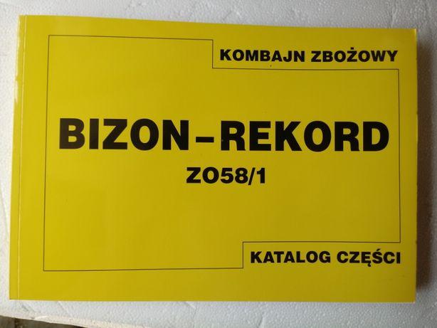 Katalog części zamiennych kombajn zbożowy Bizon Rekord; Z-058/1