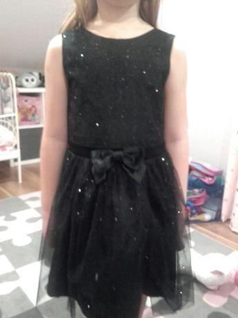 Czarna brokatowa sukienka
