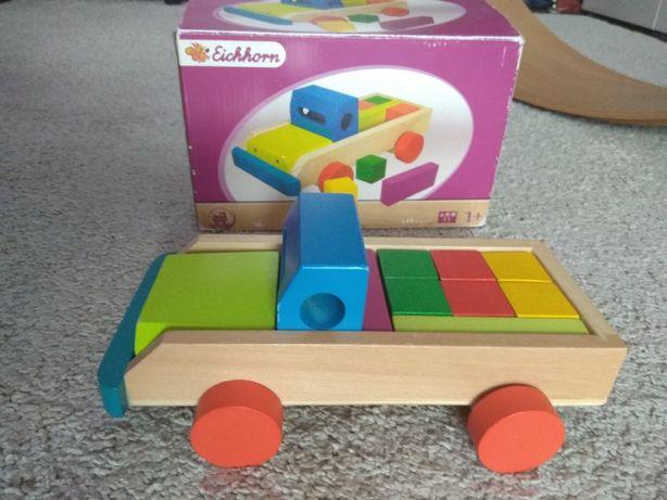 Eichhorn drewniany samochód klocki auto ciężarówka