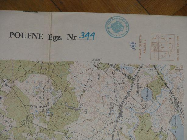 Autentyczna mapa topograficzna tzw. powiatówka_1964 rok–OLSZTYN-2/344.