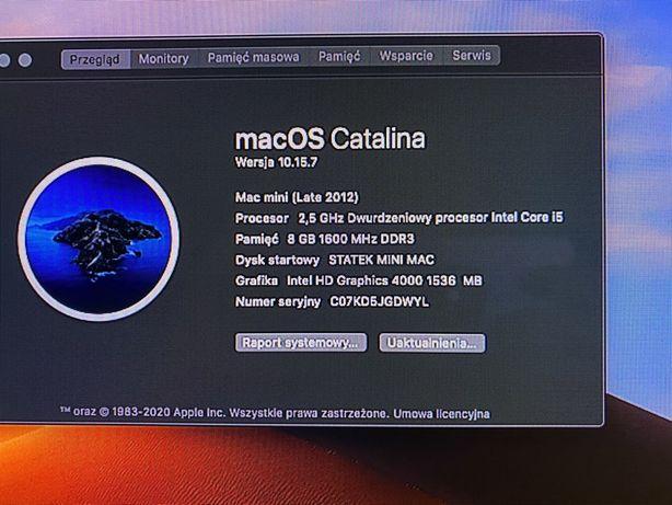 Mac mini 2012 ,250gb ssd dysk ,8Gb ram