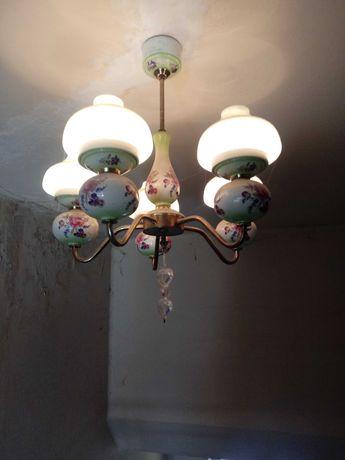 Lampa.Żyrandol.Retro.Vintage.PRL.