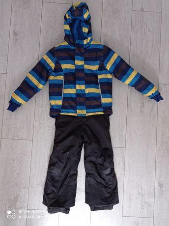 Komplet zimowy kombinezon spodnie narciarskie