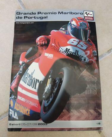 Revista Grande Premio Marlboro Portugal 2003 Moto GP