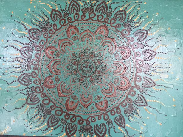 Картина маслом « Мандала Солнце» размер 40/60 см.