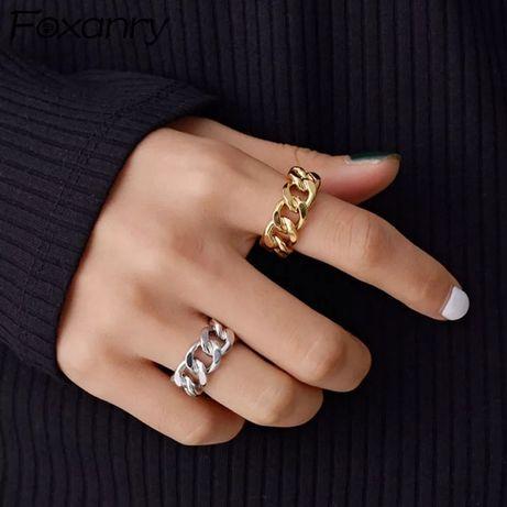Трендовое кольцо, цепи, цепь, перстень, хит 2021 в стиле Zara, Mango