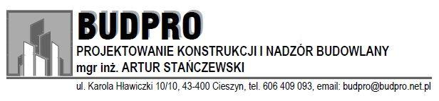 """Projektowanie Konstrukcji i Nadzór Budowlany """"Budpro"""""""