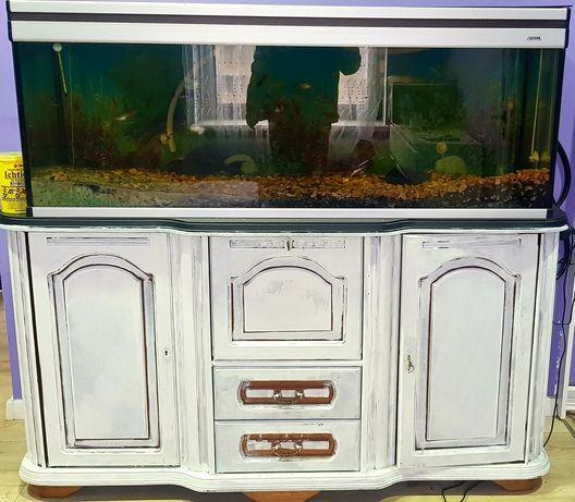 Akwarium ,rybki ,filtr, szafka