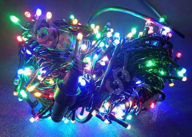 LAMPKI ZEWNĘTRZNE 300 LED MULTIKOLOR+FLASH wewnętrzne choinkowe uliczn