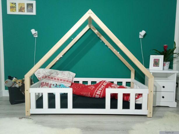Łóżko dziecięce DOMEK VINCI z barierkami