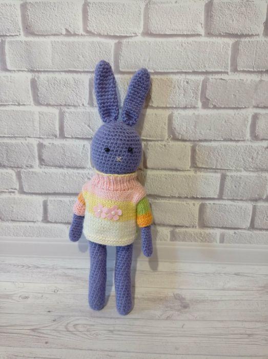 Зайка в свитерке, игрушка ручной работы Мариуполь - изображение 1