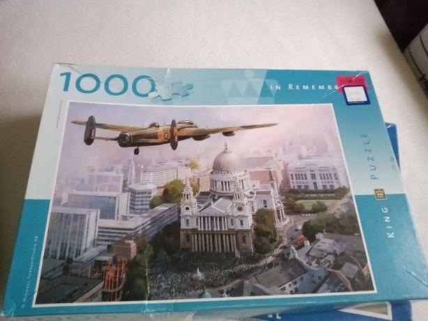 sprzedam puzzle 1000 elem. samolot brak 2 szt.