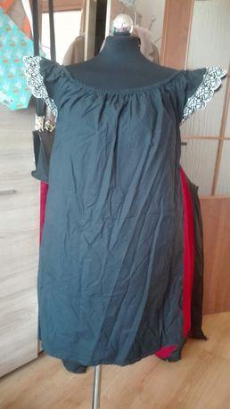 Sukienka hiszpanka granatowa z haftem roz,l,xl