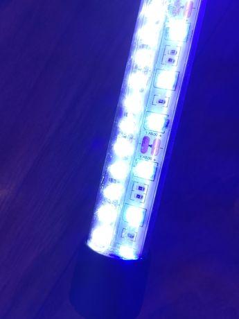 Oświetlenie /Lampa do akwarium led barwa biało niebieska 110cm
