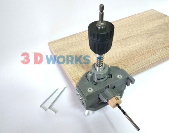 Кондуктор под стяжку Блюм/Blum универсальный 16/18/19 мм комплект