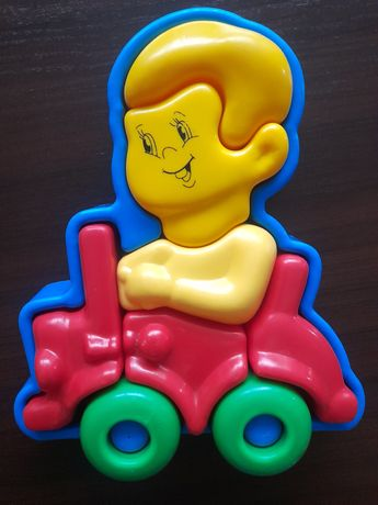 Puzzle niemowlęce autko