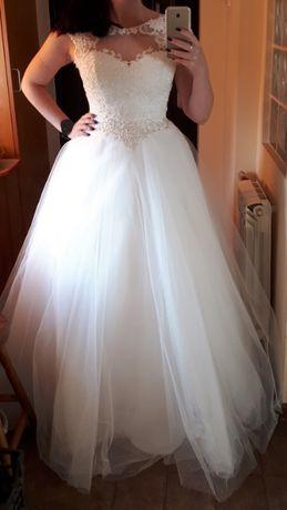 Szczęśliwa suknia ślubna szuka Panny Młodej! 38 40 księżniczka