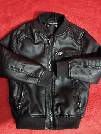 Terranova 3-4 года кожаная куртка