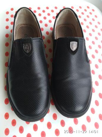 Туфли детские кожаные размер 35