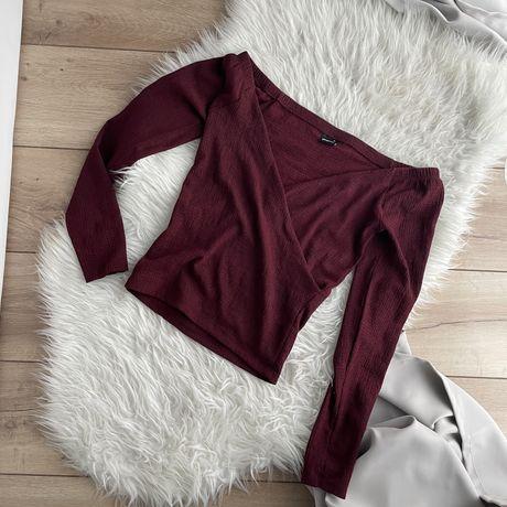 Gina tricot burgundowa bluzka