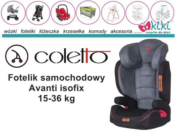 Fotelik samochodowy Coletto Avanti isofix 15-36 kg
