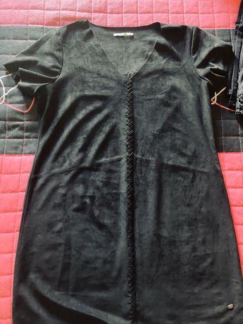 Vestido preto camurça