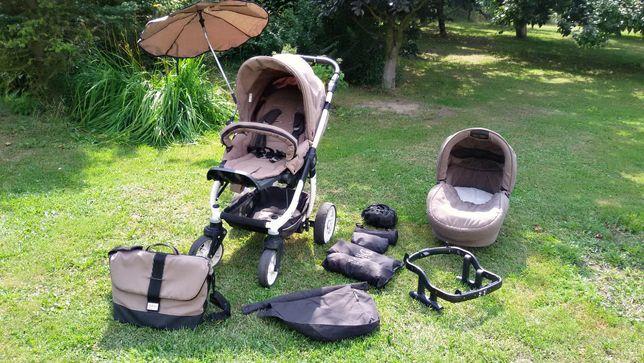 Wózek Teutonia Cosmo 4w1 komplet: spacerówa,gondola,fotelik,akcesoria