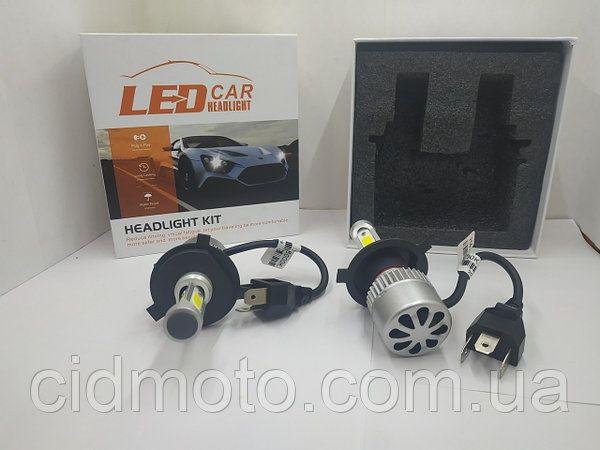 Светодиодные лед лампы (Авто-лампы LED 6000K) цоколь H-4