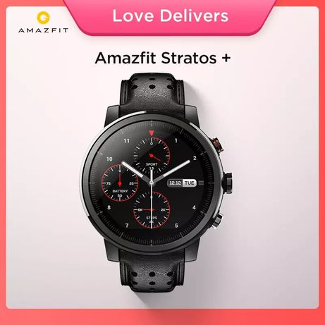 Smartwatch Amazfit Stratos + plus Preto #NOVO#