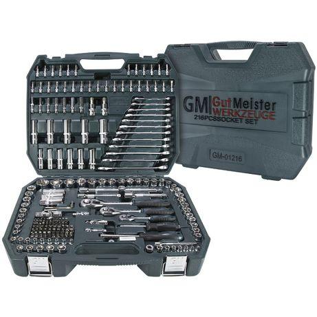 Набір торцевих головок Gut Meister 216 шт GM-01216