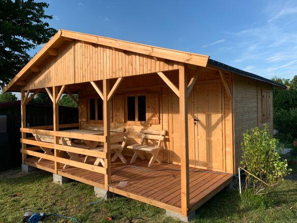 domek drewniany domki drewniane dom domy z drewna działkowy 22m2WARBIT