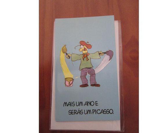 """Postal de Parabéns """"…Picasso"""""""