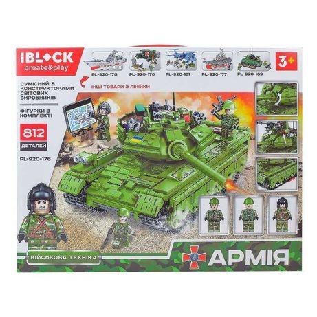 Конструктор iBlock Военная Техника Танк  812 деталей PL-920-176 Лего