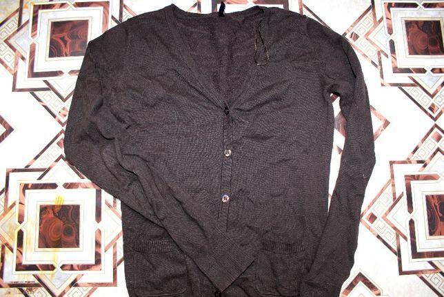 Кардиган коричневый кофта пуловер размер C