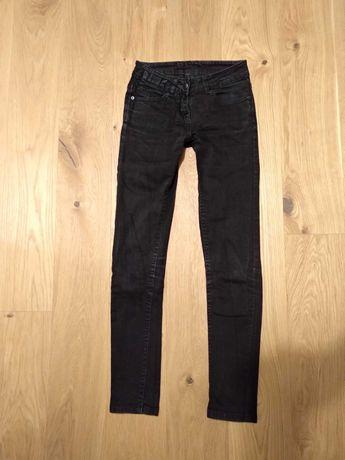 Czarne jeansy 32/34 XXS/XS