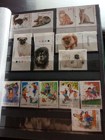 Znaczki pocztowe idealny stan, nowe, kotki, pieski, dzieci