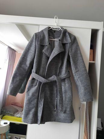 Płaszcz szlafrokowy z zamkiem XL 42 szary