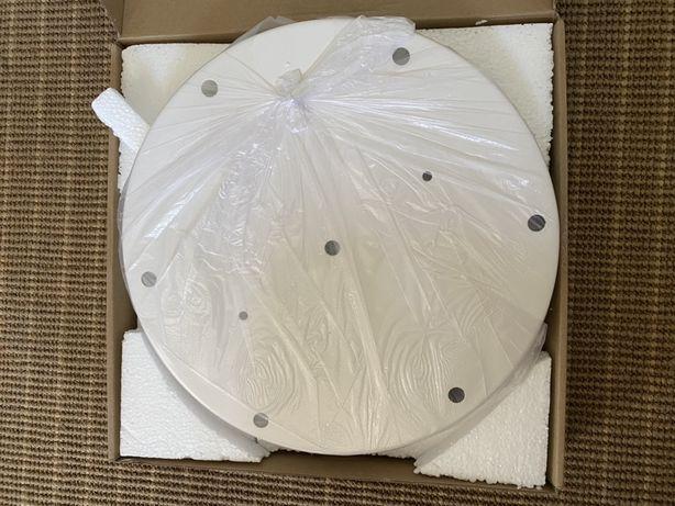 Żyrandol osłona podsufitka Simple Light biała 30cm na 7 i 10 kabli