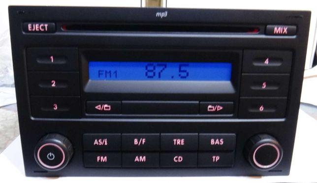 Radio VW GOLF POLO transporter T4 wraz z kodem jak nowe