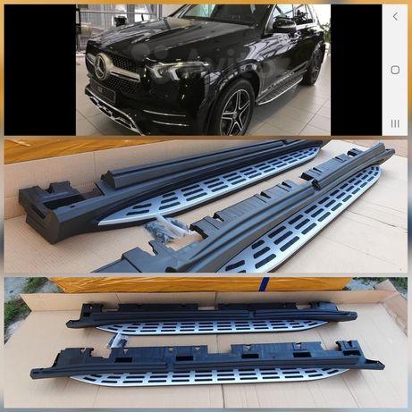 Подножки пороги для Mercedes GLC GLK GL GLS GLE ML W166 W167 X167 X166