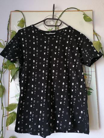 Czarna koszulka Pull&Bear