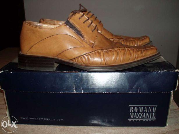Męskie włoskie półbuty/trzewiki/buty skórzane Romano Mazzante roz.41